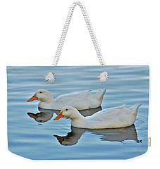 Weekender Tote Bag featuring the photograph 3- Ducks by Joseph Keane