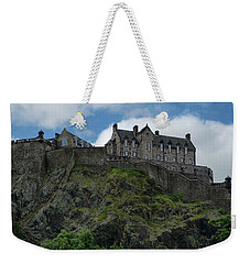 Weekender Tote Bag featuring the photograph Edinburgh Castle In Scotland by Jeremy Lavender Photography