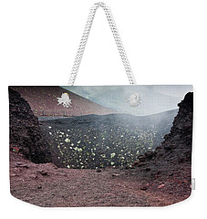 Etna, Red Mount Crater Weekender Tote Bag