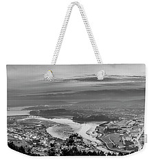 Weekender Tote Bag featuring the photograph Ferrol's Ria Panorama From Mount Ancos Galicia Spain by Pablo Avanzini