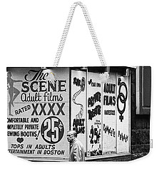 Film Homage Hard Core 1979 Porn Theater The Combat Zone Boston Massachusetts 1977 Weekender Tote Bag