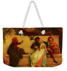 Weekender Tote Bag featuring the painting Florentine Poet by Alexandre Cabanel
