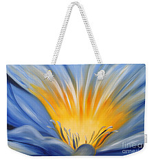 From The Heart Of A Flower Blue Weekender Tote Bag