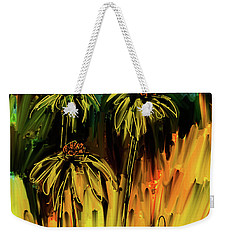 Weekender Tote Bag featuring the digital art Garden Flowers by Jim Vance