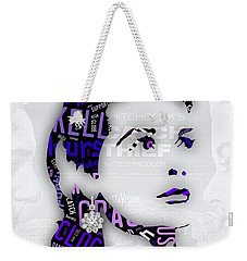 Grace Kelly Movies In Words Weekender Tote Bag by Marvin Blaine