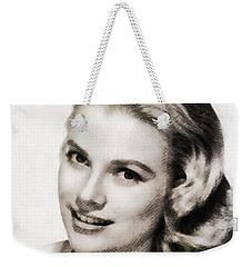 Grace Kelly, Vintage Hollywood Actress Weekender Tote Bag