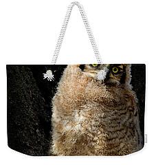 Great Horned Owlet Weekender Tote Bag