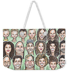 Group Caricature Weekender Tote Bag by Kevin Middleton
