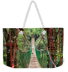 Weekender Tote Bag featuring the photograph Hanging Bridge by Alexey Stiop