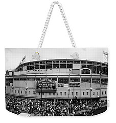 High Angle View Of Tourists Weekender Tote Bag
