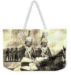Household Cavalry Changing Of The Guard Vintage Weekender Tote Bag