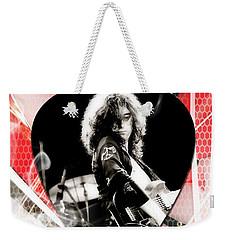 Jimmy Page Art Weekender Tote Bag by Marvin Blaine