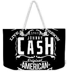 Johnny Cash Weekender Tote Bag by Hans Wolfgang Muller Leg