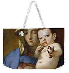 Madonna Of The Goldfinch Weekender Tote Bag by Giovanni Battista Tiepolo