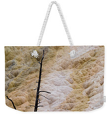 Weekender Tote Bag featuring the photograph Mammoth Hot Spring Terraces by Michael Chatt