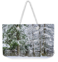 March Snow Along Cranberry River Weekender Tote Bag