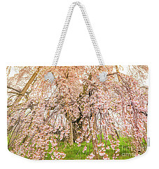 Weekender Tote Bag featuring the photograph Miharu Takizakura Weeping Cherry04 by Tatsuya Atarashi