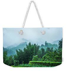 Mountains Scenery In The Mist Weekender Tote Bag