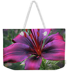 Weekender Tote Bag featuring the photograph Nice Lily by Elvira Ladocki