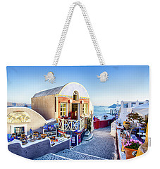 Oia, Santorini - Greece Weekender Tote Bag
