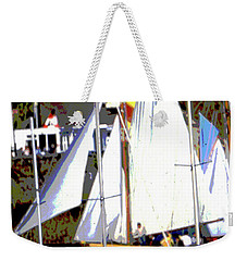 Oyster Boats Weekender Tote Bag