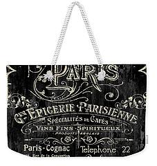 Paris Bistro Weekender Tote Bag by Mindy Sommers