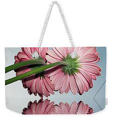 Pink Gerbers Weekender Tote Bag by Elvira Ladocki