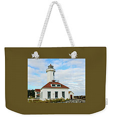 Point Wilson Lighthouse Weekender Tote Bag by E Faithe Lester