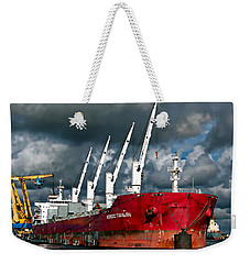 Port Of Amsterdam Weekender Tote Bag