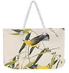 Prothonotary Warbler Weekender Tote Bag by John James Audubon