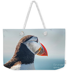 Weekender Tote Bag featuring the photograph Puffin In Close Up by Patricia Hofmeester