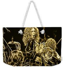 Robert Plant Led Zeppelin Weekender Tote Bag by Marvin Blaine