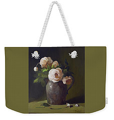 3 Roses In Silver Pitcher Weekender Tote Bag