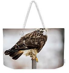 Rough-legged Hawk Weekender Tote Bag by Ricky L Jones