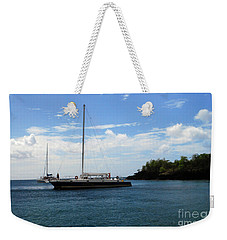 Weekender Tote Bag featuring the photograph Sail Boat by Gary Wonning