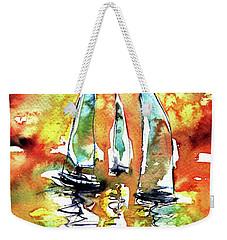 Sailboats Weekender Tote Bag by Kovacs Anna Brigitta