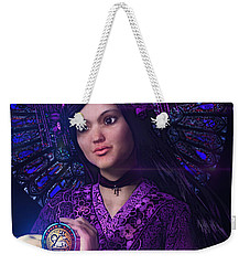Weekender Tote Bag featuring the painting Saint Magdalene Of Nagasaki by Suzanne Silvir