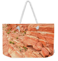 Weekender Tote Bag featuring the photograph Sandstone Wall In Valley Of Fire by Ray Mathis