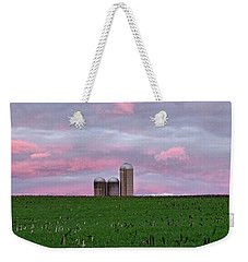 Weekender Tote Bag featuring the photograph 3 Silos by Robert Geary