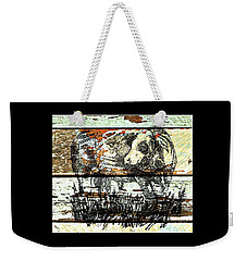 Weekender Tote Bag featuring the drawing Simmental Bull by Larry Campbell