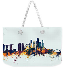 Singapore Skyline Weekender Tote Bag