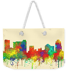St Petersburg Florida Skyline Weekender Tote Bag by Marlene Watson