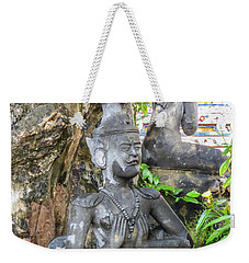 Statue Depicting A Thai Yoga Pose At Wat Pho Temple Weekender Tote Bag
