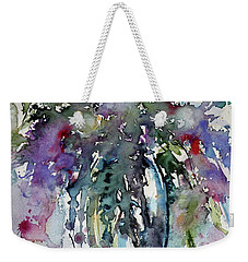 Weekender Tote Bag featuring the painting Still Life by Kovacs Anna Brigitta