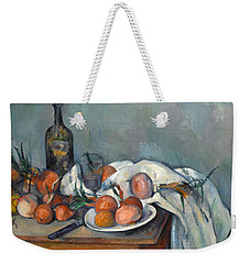 Still Life With Onions  Weekender Tote Bag by Paul Cezanne