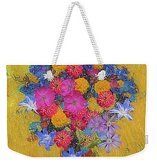 Weekender Tote Bag featuring the photograph Summer Flowers by Vladimir Kholostykh
