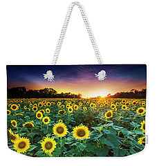 Weekender Tote Bag featuring the photograph 3 Suns by Edward Kreis
