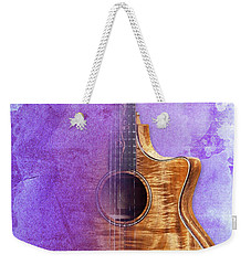 Taylor Inspirational Quote, Acoustic Guitar Original Abstract Art Weekender Tote Bag by Pablo Franchi