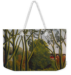 Weekender Tote Bag featuring the painting The Banks Of The Bievre Near Bicetre by Henri Rousseau