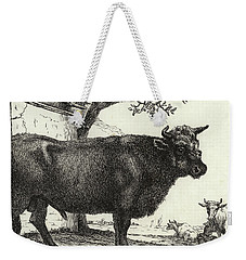 The Bull Weekender Tote Bag by Paulus Potter